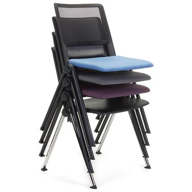 Vero Black Mesh Back Visitor Chair - Fabric
