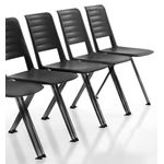 Vero 4-Leg Visitor Chair - Black
